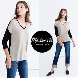 Madewell v neck long sleeve high low top size xxs